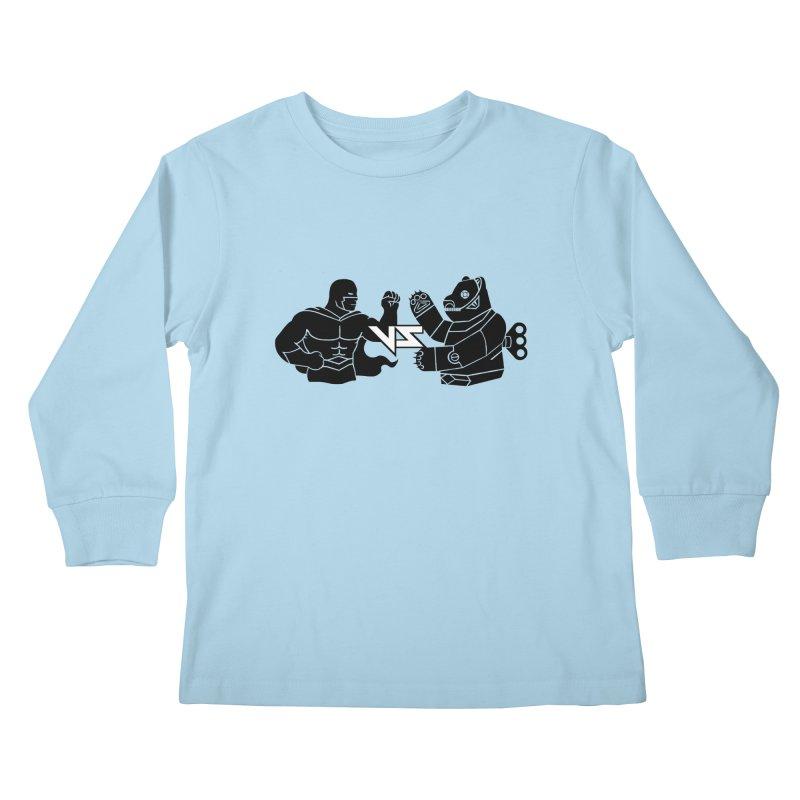 Comics VS Toys Kids Longsleeve T-Shirt by BRAVO's Shop