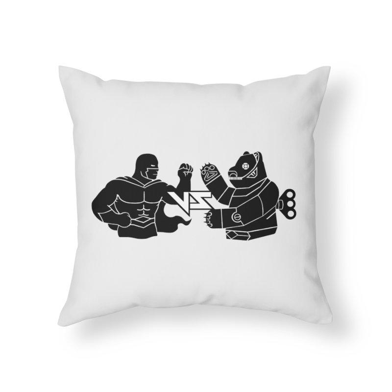 Comics VS Toys Home Throw Pillow by BRAVO's Shop