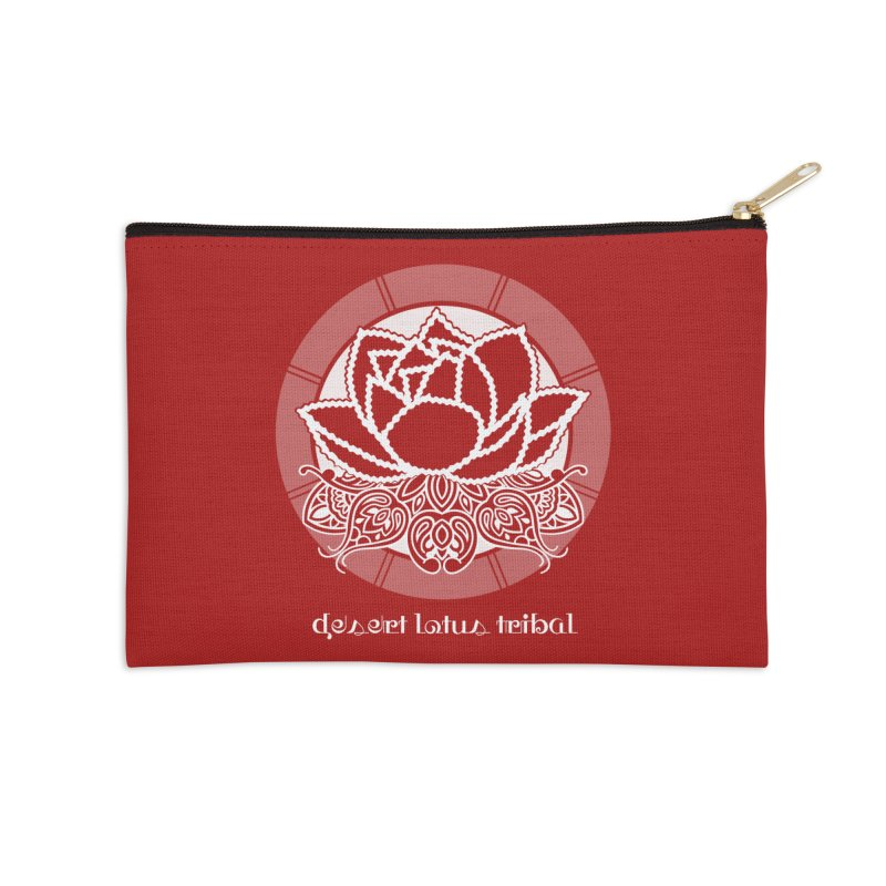 Desert Lotus Tribal Accessories Zip Pouch by BRAVO's Shop