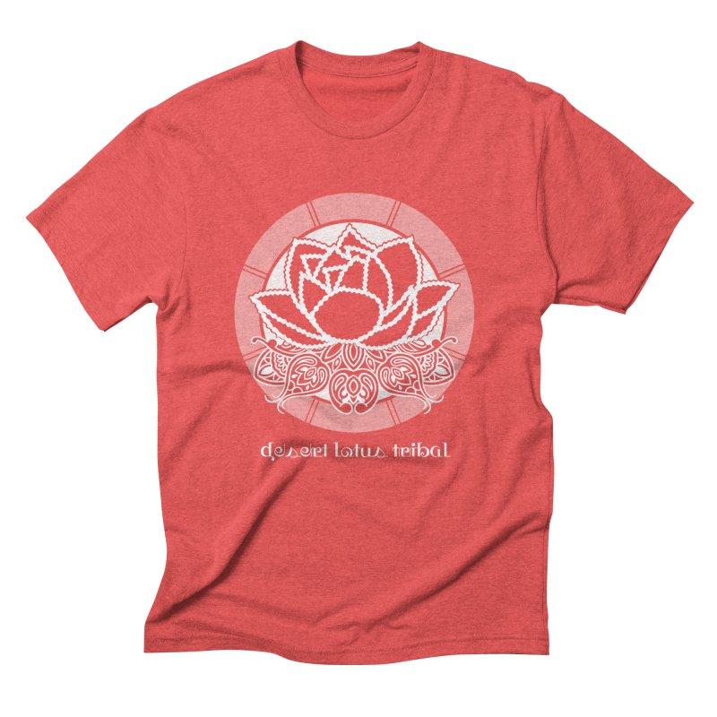 Desert Lotus Tribal Men's Triblend T-Shirt by BRAVO's Shop