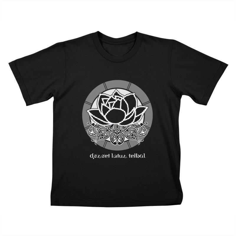Desert Lotus Tribal Kids T-Shirt by BRAVO's Shop