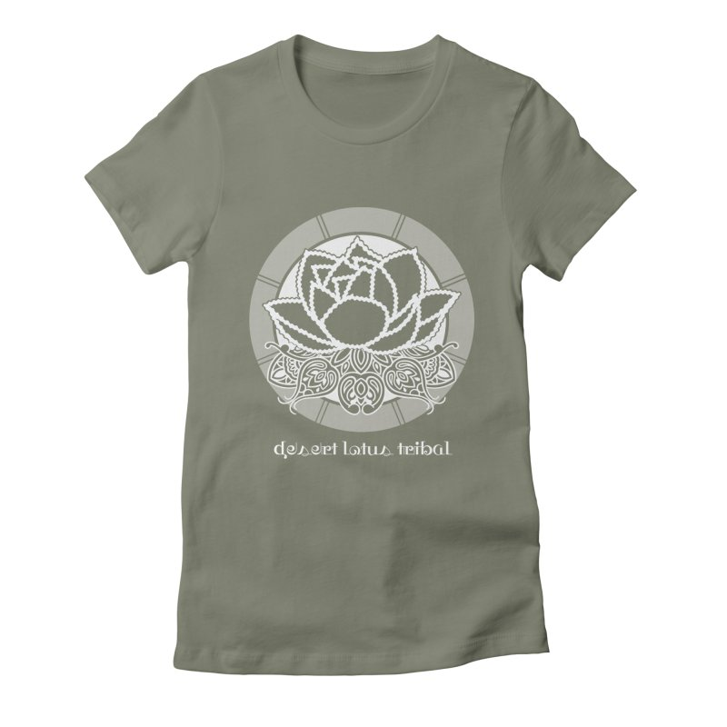 Desert Lotus Tribal Women's Fitted T-Shirt by BRAVO's Shop