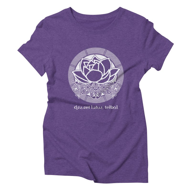 Desert Lotus Tribal Women's Triblend T-Shirt by BRAVO's Shop
