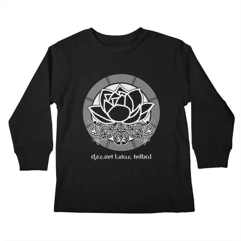 Desert Lotus Tribal Kids Longsleeve T-Shirt by BRAVO's Shop