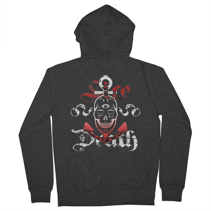 Skull Ankhor Women's French Terry Zip-Up Hoody by BRAVO's Shop