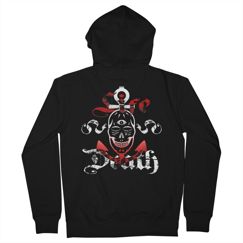 Skull Ankhor Men's French Terry Zip-Up Hoody by BRAVO's Shop