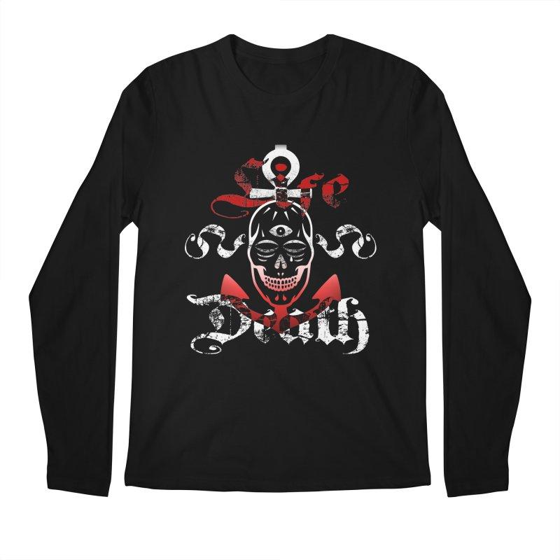 Skull Ankhor Men's Regular Longsleeve T-Shirt by BRAVO's Shop