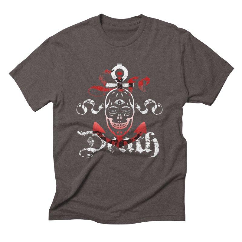 Skull Ankhor Men's Triblend T-Shirt by BRAVO's Shop