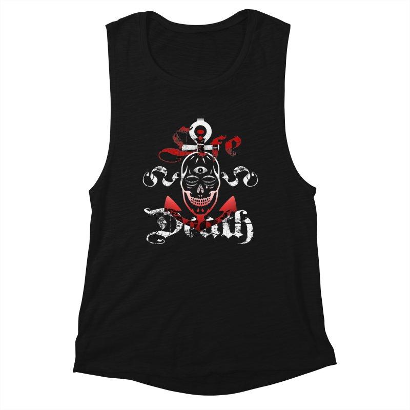 Skull Ankhor Women's Muscle Tank by BRAVO's Shop