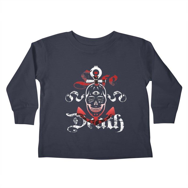 Skull Ankhor Kids Toddler Longsleeve T-Shirt by BRAVO's Shop