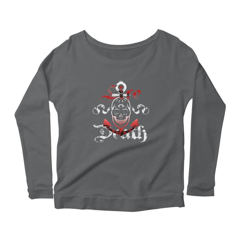 Skull Ankhor Women's Scoop Neck Longsleeve T-Shirt by BRAVO's Shop