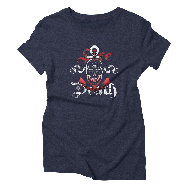 Skull Ankhor Women's Triblend T-Shirt by BRAVO's Shop
