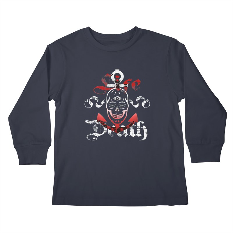 Skull Ankhor Kids Longsleeve T-Shirt by BRAVO's Shop