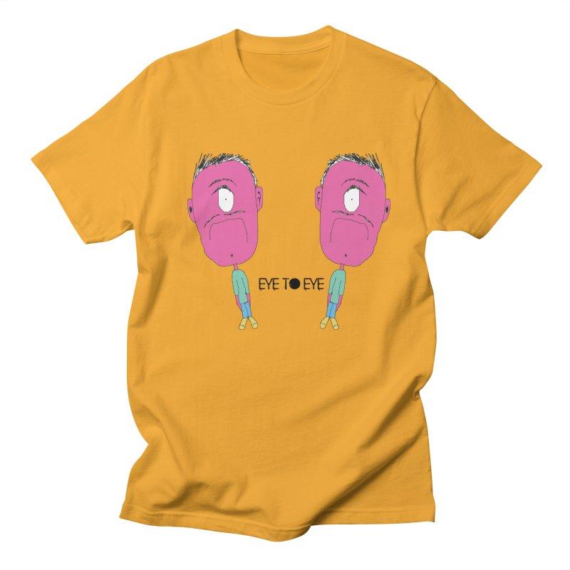 eye to eye Men's T-shirt by BRIANWANDTKEART's Artist Shop