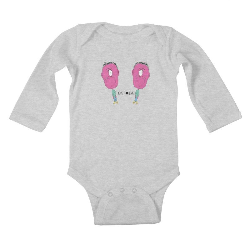 eye to eye Kids Baby Longsleeve Bodysuit by BRIANWANDTKEART's Artist Shop