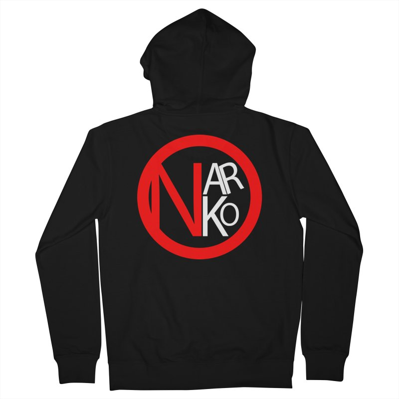 Narko Men's French Terry Zip-Up Hoody by BRIANWANDTKEART's Artist Shop