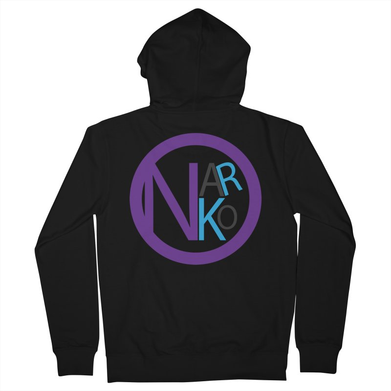 Narko Women's French Terry Zip-Up Hoody by BRIANWANDTKEART's Artist Shop