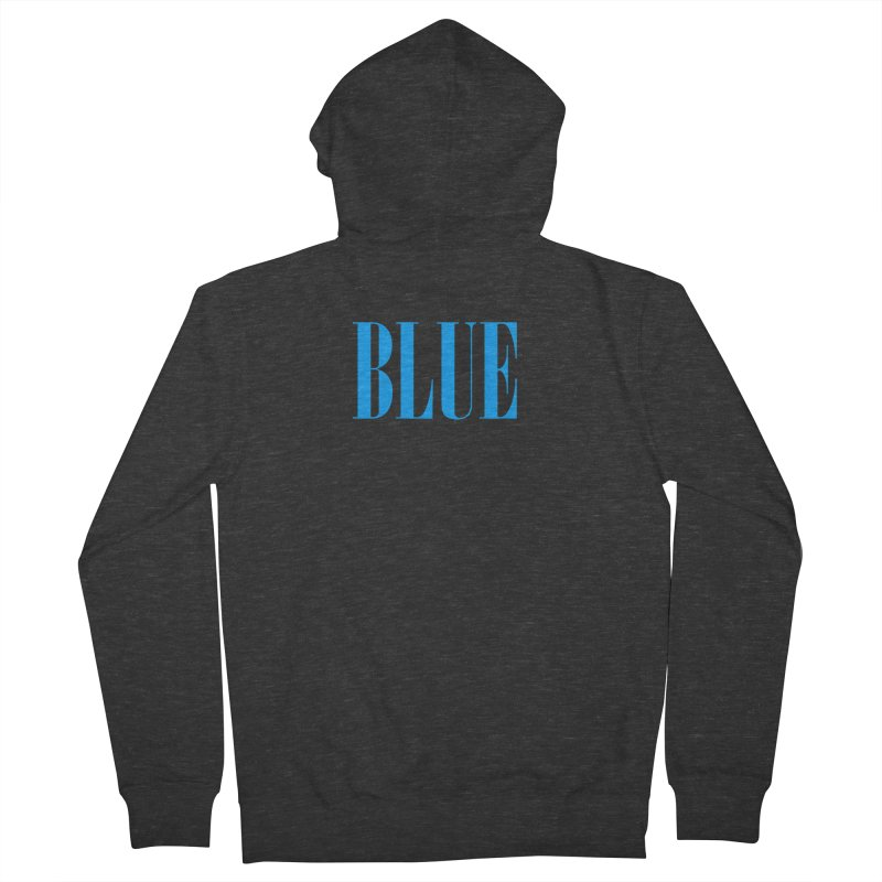 Blue Women's French Terry Zip-Up Hoody by BRIANWANDTKEART's Artist Shop