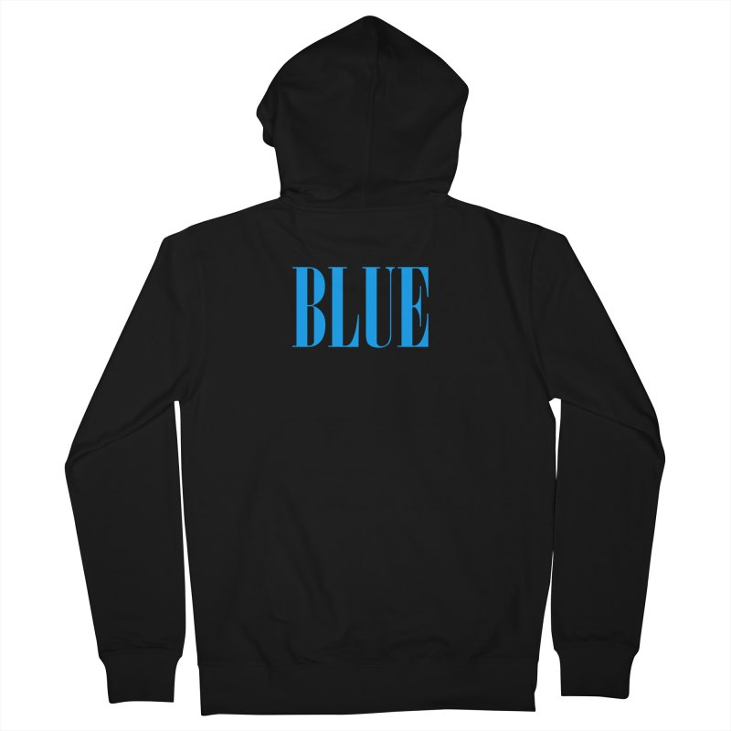 Blue Men's French Terry Zip-Up Hoody by BRIANWANDTKEART's Artist Shop