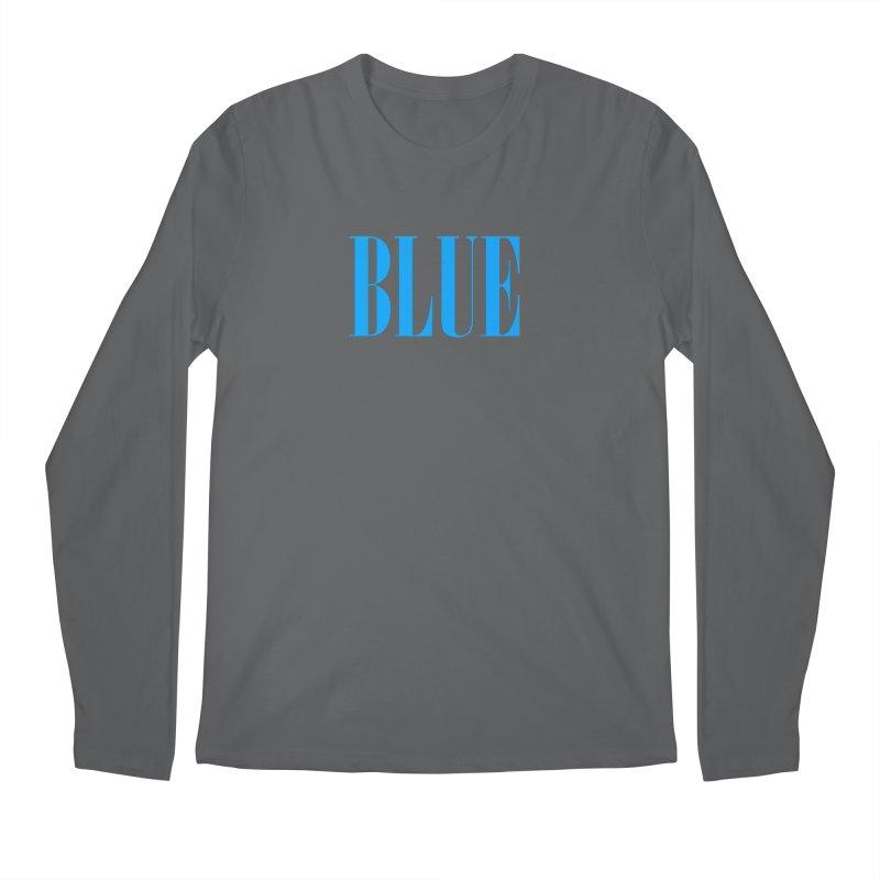 Blue Men's Regular Longsleeve T-Shirt by BRIANWANDTKEART's Artist Shop