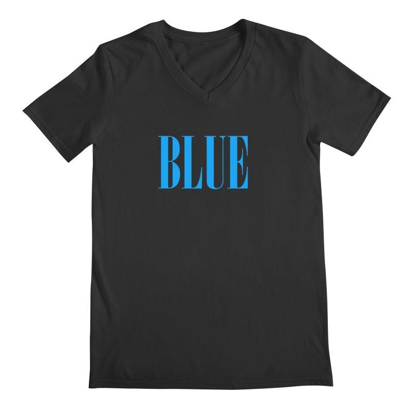 Blue Men's V-Neck by BRIANWANDTKEART's Artist Shop