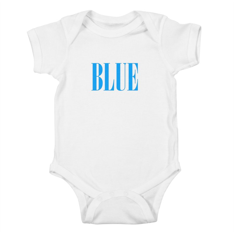 Blue Kids Baby Bodysuit by BRIANWANDTKEART's Artist Shop