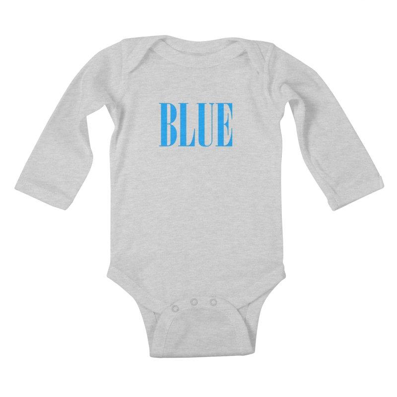 Blue Kids Baby Longsleeve Bodysuit by BRIANWANDTKEART's Artist Shop