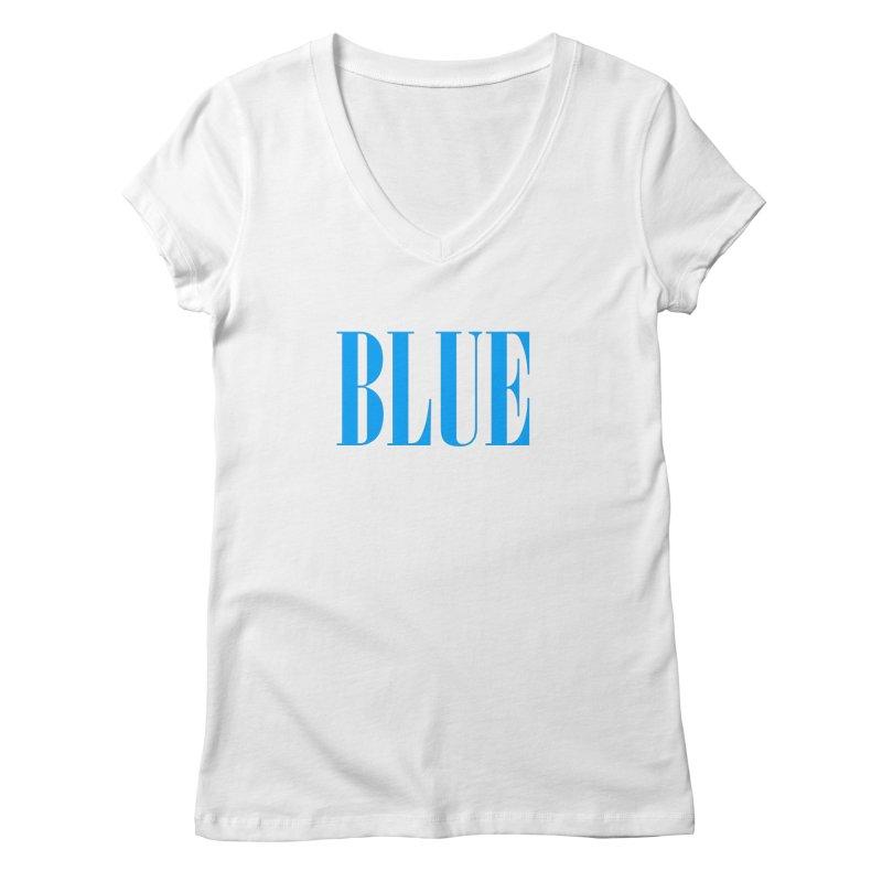 Blue Women's Regular V-Neck by BRIANWANDTKEART's Artist Shop