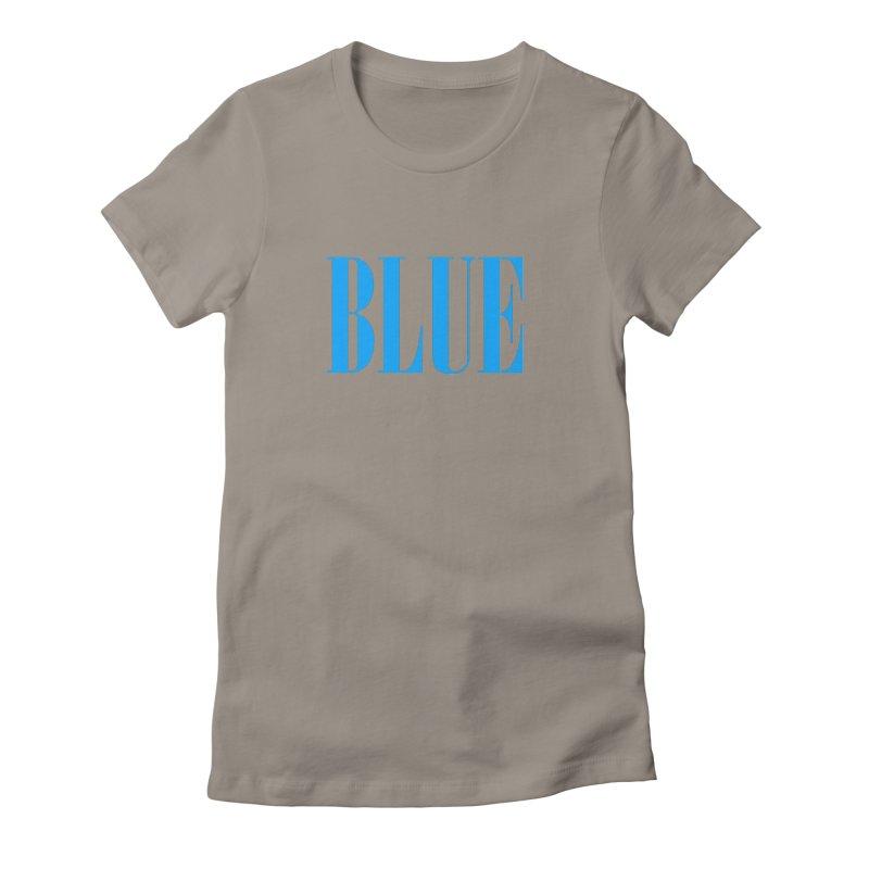 Blue Women's Fitted T-Shirt by BRIANWANDTKEART's Artist Shop
