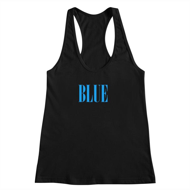 Blue Women's Racerback Tank by BRIANWANDTKEART's Artist Shop