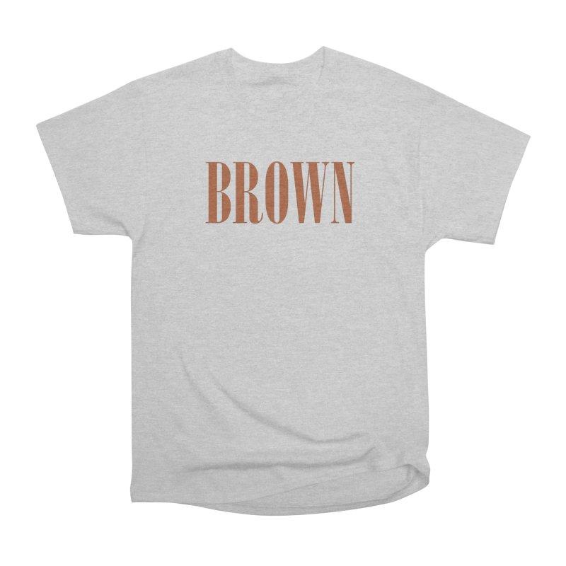 Brown Men's Heavyweight T-Shirt by BRIANWANDTKEART's Artist Shop