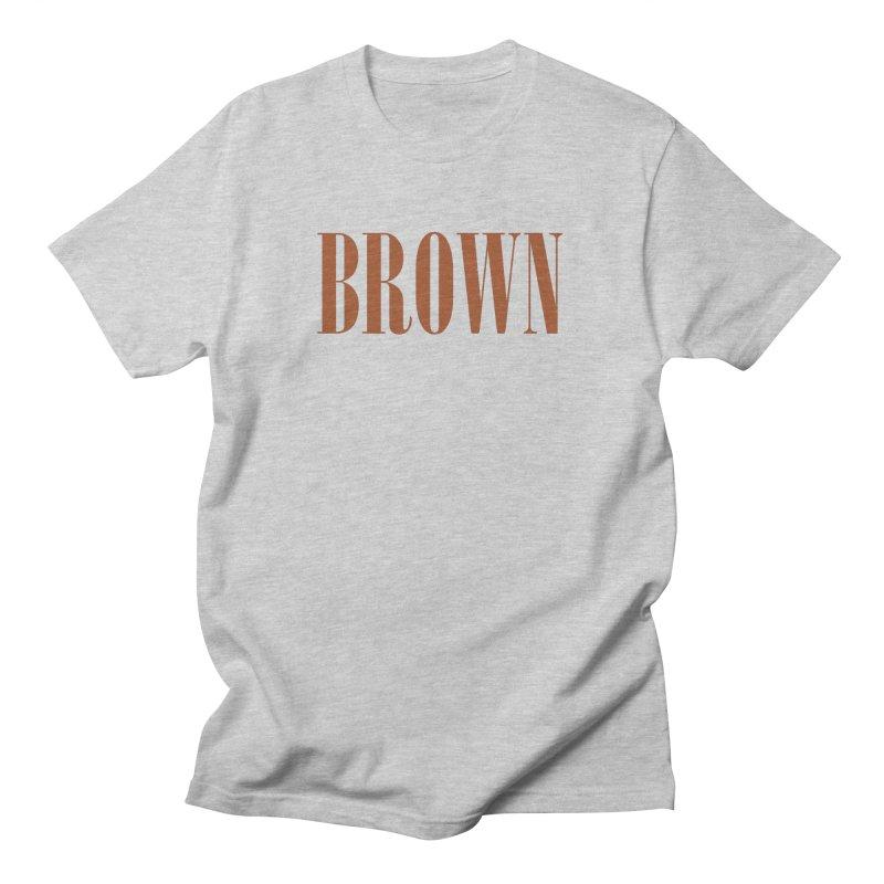 Brown Men's Regular T-Shirt by BRIANWANDTKEART's Artist Shop