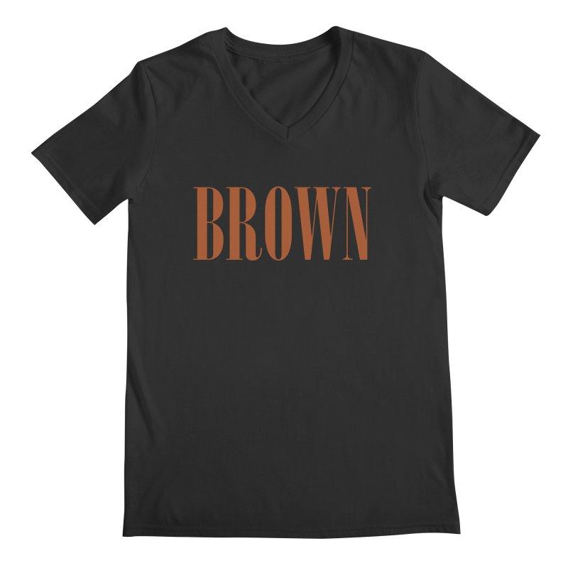Brown Men's V-Neck by BRIANWANDTKEART's Artist Shop