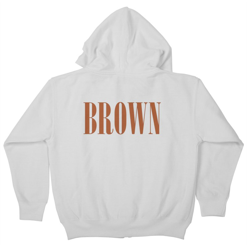 Brown Kids Zip-Up Hoody by BRIANWANDTKEART's Artist Shop