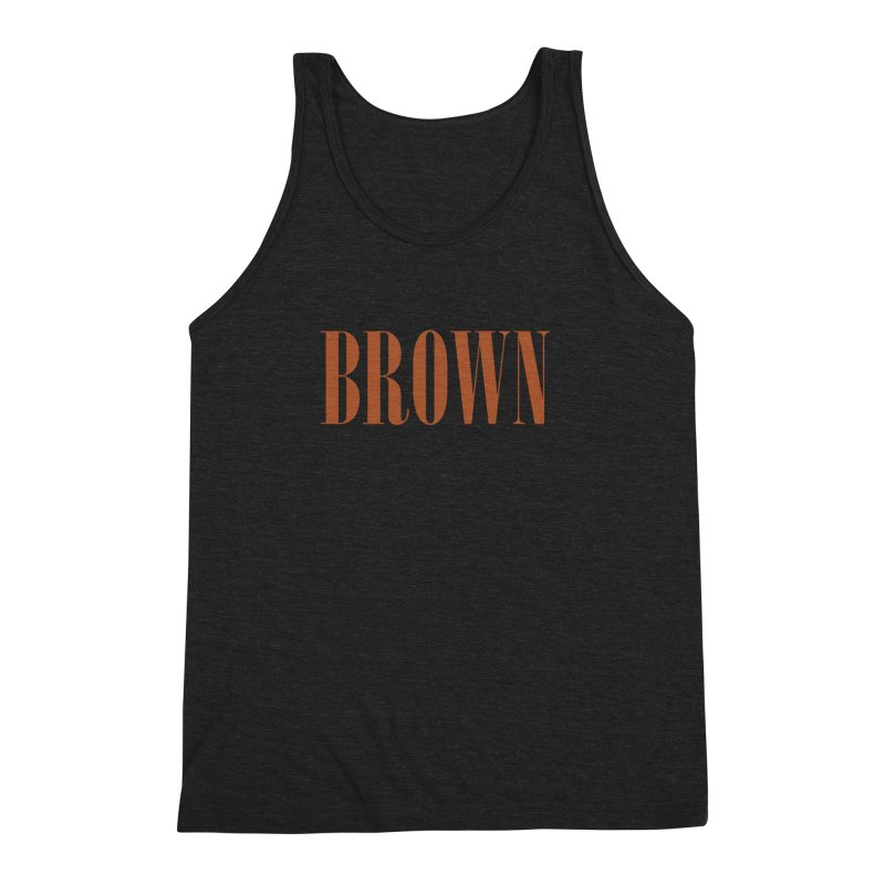 Brown Men's Triblend Tank by BRIANWANDTKEART's Artist Shop