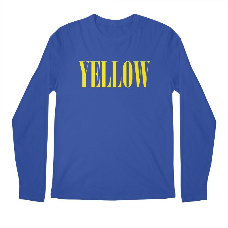 Yellow Men's Longsleeve T-Shirt by BRIANWANDTKEART's Artist Shop
