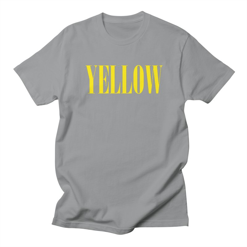 Yellow Men's Regular T-Shirt by BRIANWANDTKEART's Artist Shop