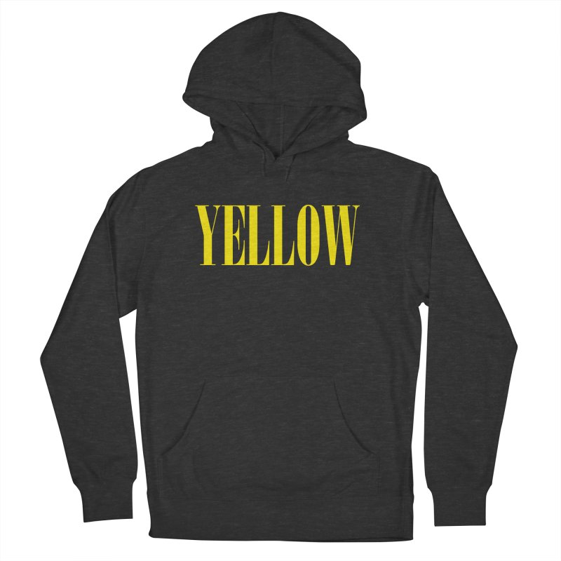 Yellow Men's French Terry Pullover Hoody by BRIANWANDTKEART's Artist Shop