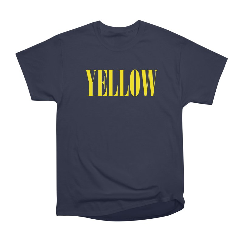 Yellow Men's Classic T-Shirt by BRIANWANDTKEART's Artist Shop