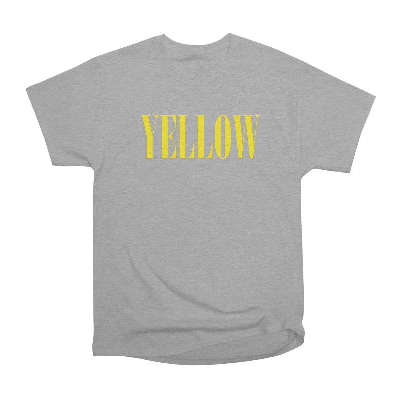 Yellow Men's Heavyweight T-Shirt by BRIANWANDTKEART's Artist Shop