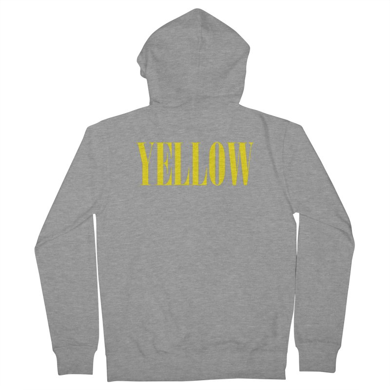Yellow Women's French Terry Zip-Up Hoody by BRIANWANDTKEART's Artist Shop