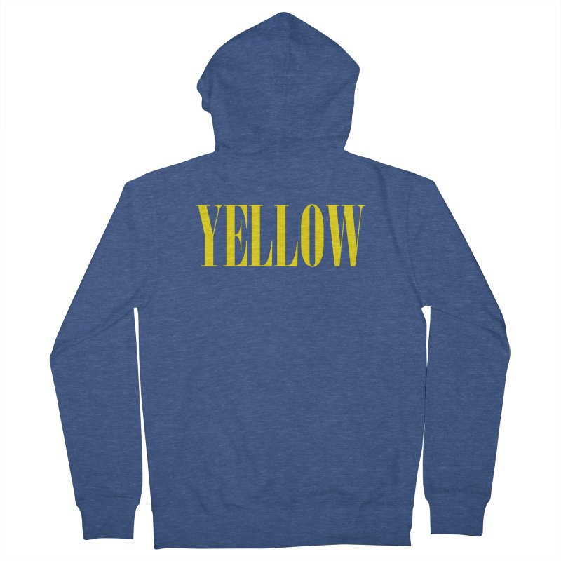 Yellow Men's French Terry Zip-Up Hoody by BRIANWANDTKEART's Artist Shop