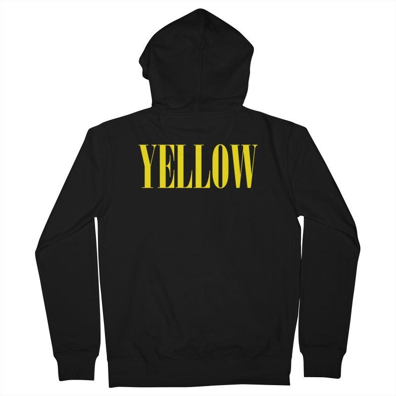 Yellow Men's Zip-Up Hoody by BRIANWANDTKEART's Artist Shop