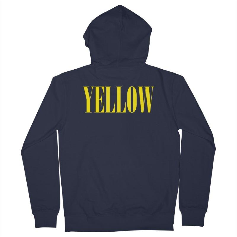 Yellow Men's French Terry Zip-Up Hoody by BRIANWANDTKEART's Artist Shop
