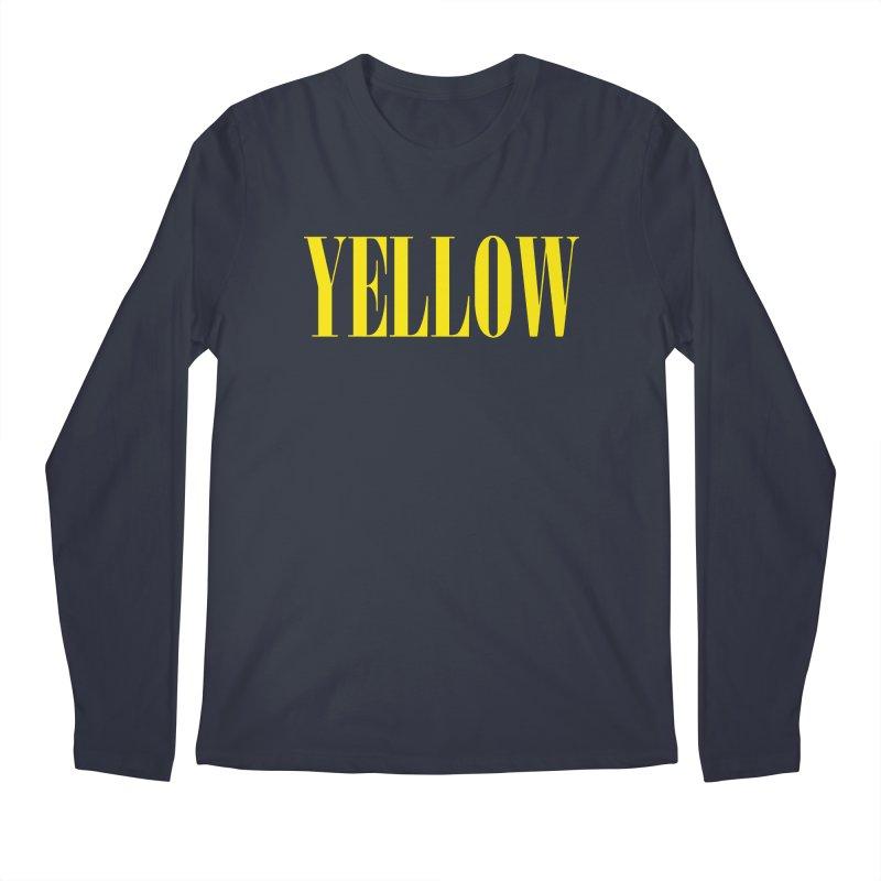 Yellow Men's Regular Longsleeve T-Shirt by BRIANWANDTKEART's Artist Shop