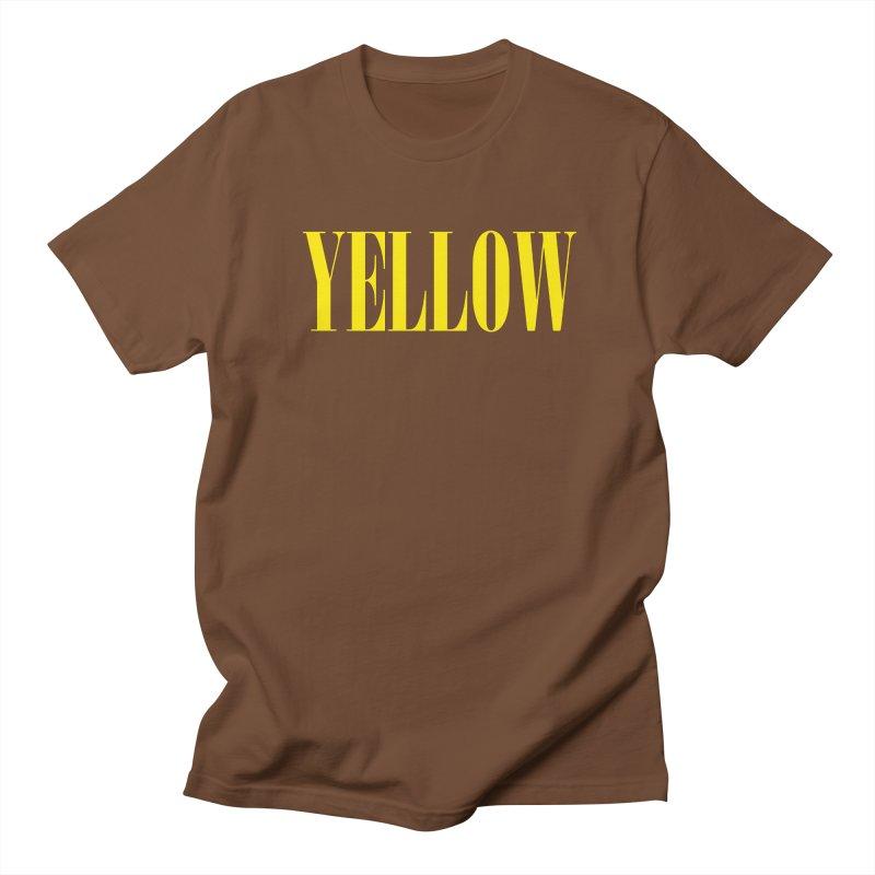 Yellow Women's Regular Unisex T-Shirt by BRIANWANDTKEART's Artist Shop