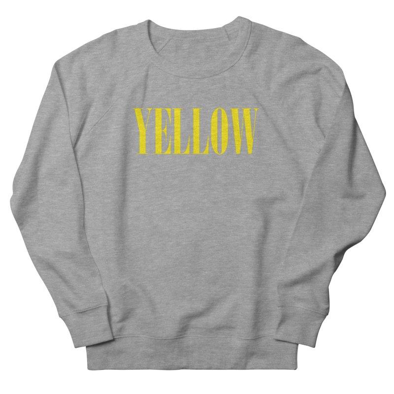 Yellow Men's French Terry Sweatshirt by BRIANWANDTKEART's Artist Shop