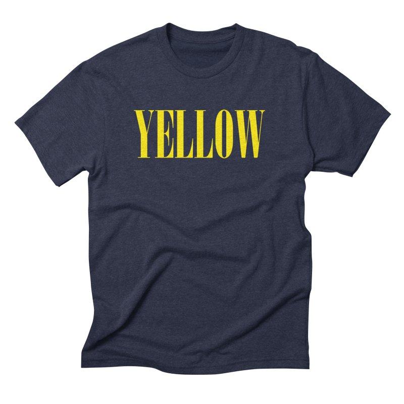 Yellow Men's Triblend T-Shirt by BRIANWANDTKEART's Artist Shop