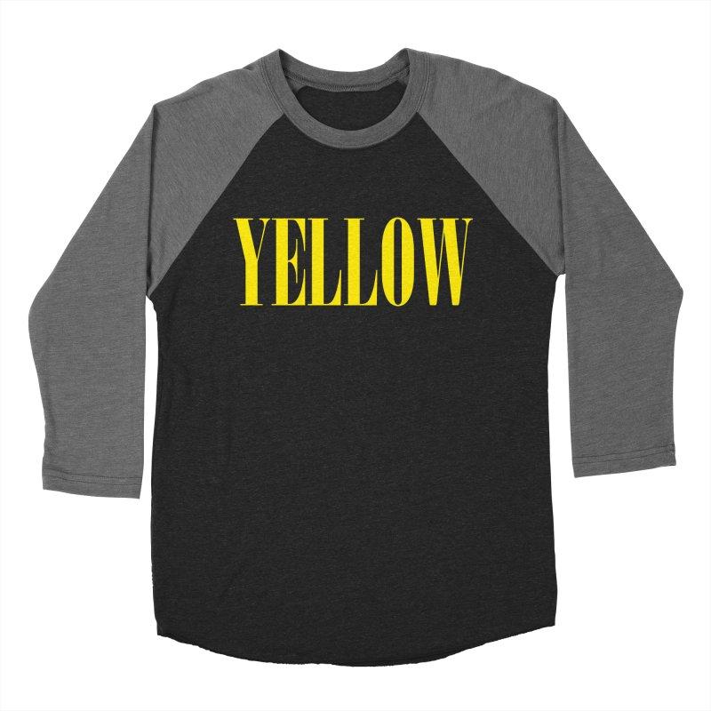 Yellow Women's Baseball Triblend Longsleeve T-Shirt by BRIANWANDTKEART's Artist Shop