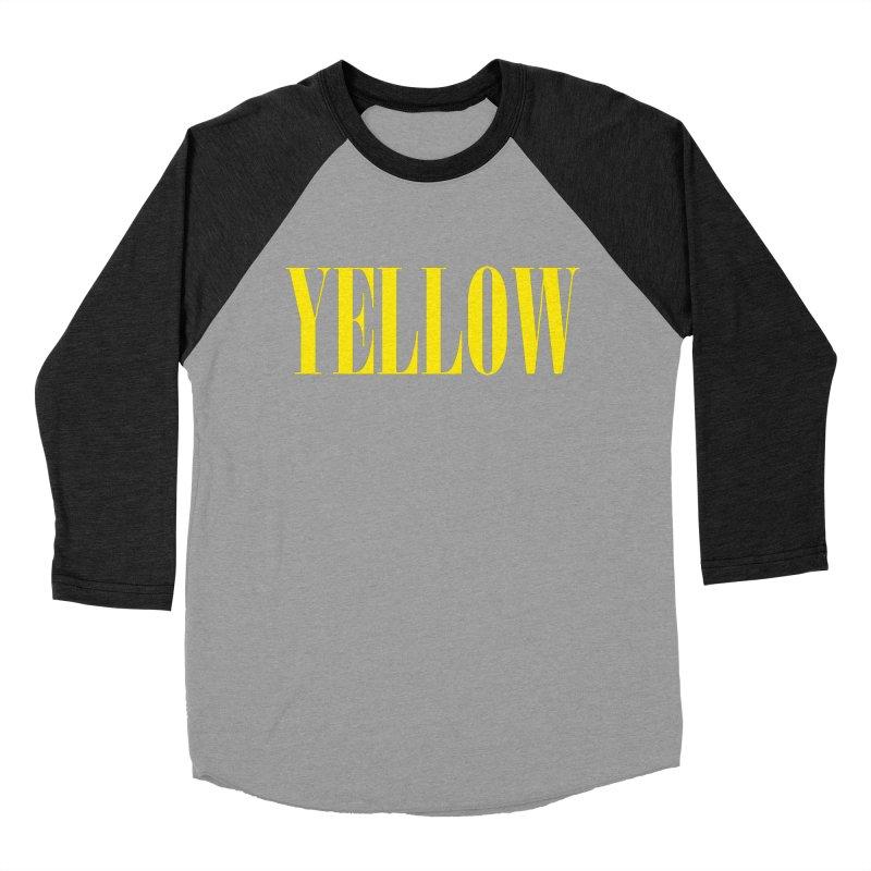 Yellow Women's Baseball Triblend T-Shirt by BRIANWANDTKEART's Artist Shop